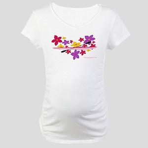 Kayak Flower Power Maternity T-Shirt