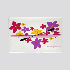 Kayak Flower Power Rectangle Magnet