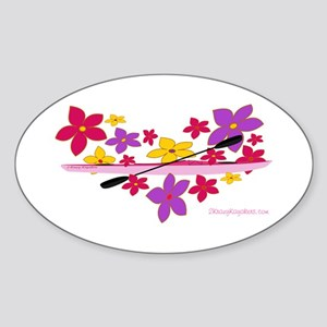 Kayak Flower Power Sticker (Oval)
