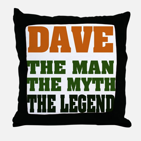 DAVE - The Legend Throw Pillow