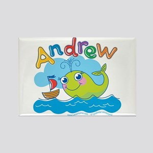 """""""Andrew Whale"""" Rectangle Magnet"""