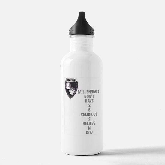 Believe N God Water Bottle