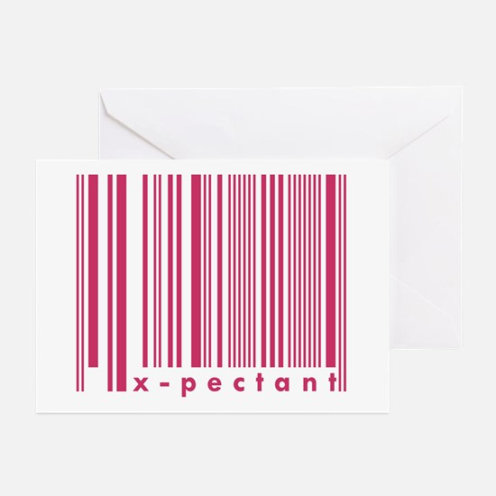 X-pectant New Mommy Daddy Barcode Greeting Cards (