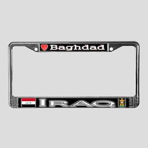 Baghdad, IRAQ - License Plate Frame