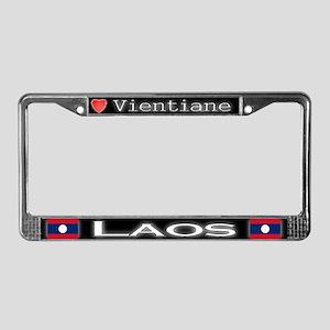 Vientiane, LAOS - License Plate Frame