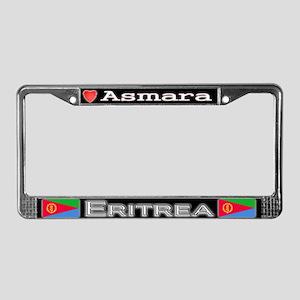 Asmara, ERITREA - License Plate Frame
