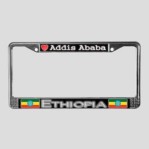 Addis Ababa, ETHIOPIA - License Plate Frame