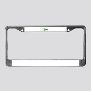 I Love Irish Dancing License Plate Frame