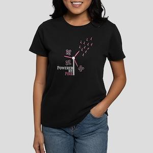 Powered by Pink (Turbine) Women's Dark T-Shirt
