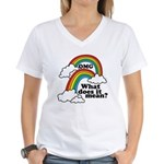 Double Rainbow Women's V-Neck T-Shirt