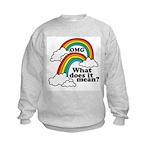 Double Rainbow Kids Sweatshirt