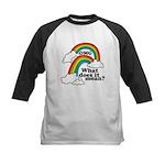 Double Rainbow Kids Baseball Jersey