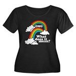 Double Rainbow Women's Plus Size Scoop Neck Dark T