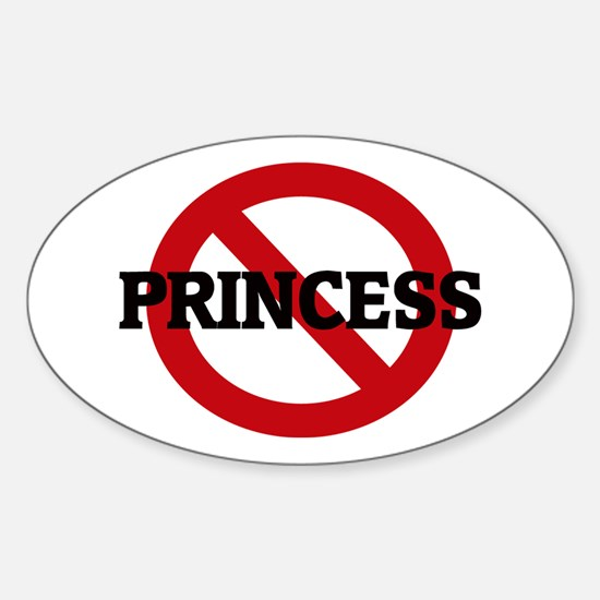 Anti-Princess Oval Decal