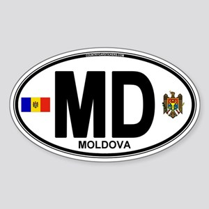 Moldova Euro Oval Sticker (Oval)