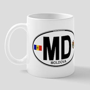 Moldova Euro Oval Mug
