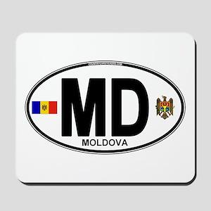 Moldova Euro Oval Mousepad