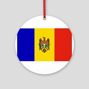 Moldovan Flag Ornament (Round)