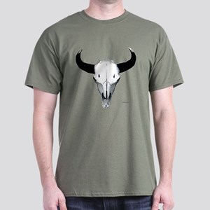 Buffalo skull European mount Dark T-Shirt