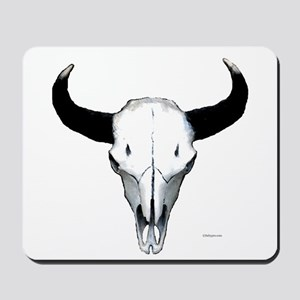 Buffalo skull European mount Mousepad