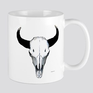 Buffalo skull European mount Mug