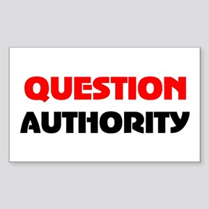 QUESTION AUTHORITY Rectangle Sticker