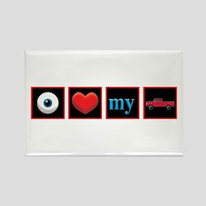 I Love My Truck Rectangle Magnet