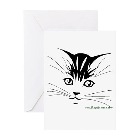 Pretty kitty face Greeting Card