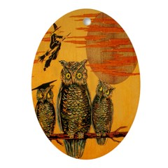 3 Owls Ornament (Oval)