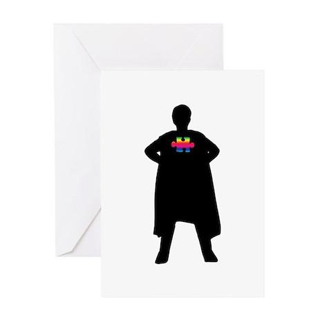 Spectrum Superheroes V2b Greeting Card
