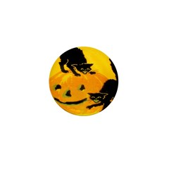 Pumpkin Cats Mini Button