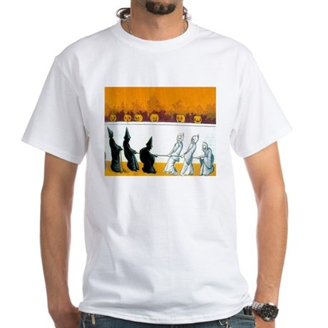 Ghostly Ghouls White T-Shirt