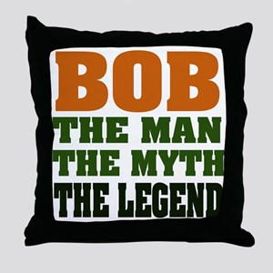 BOB - the Legend Throw Pillow