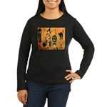 Halloween Frolic Women's Long Sleeve Dark T-Shirt
