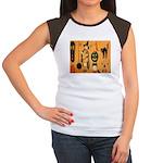 Halloween Frolic Women's Cap Sleeve T-Shirt