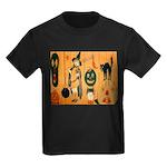 Halloween Frolic Kids Dark T-Shirt