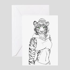 tigress Greeting Cards