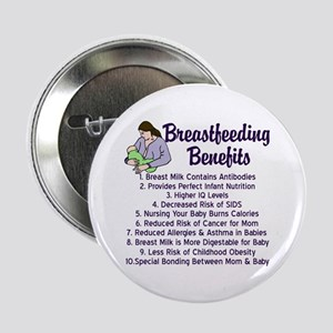 "Breastfeeding Benefits 2.25"" Button"