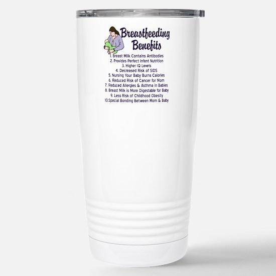 Breastfeeding Benefits Stainless Steel Travel Mug