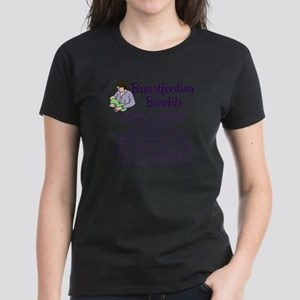 Breastfeeding Benefits Women's Dark T-Shirt