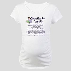 Breastfeeding Benefits Maternity T-Shirt