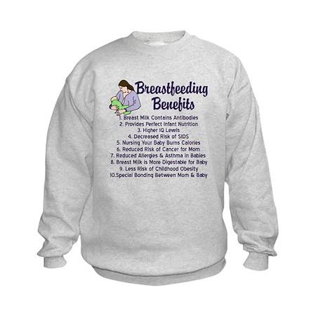 Breastfeeding Benefits Kids Sweatshirt