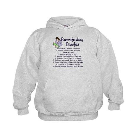 Breastfeeding Benefits Kids Hoodie