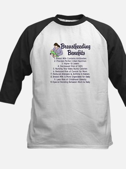 Breastfeeding Benefits Kids Baseball Jersey