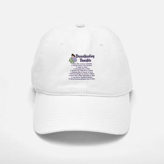 Breastfeeding Benefits Baseball Baseball Cap