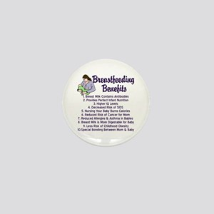 Breastfeeding Benefits Mini Button