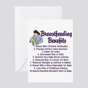 Midwife greeting cards cafepress breastfeeding benefits greeting card m4hsunfo