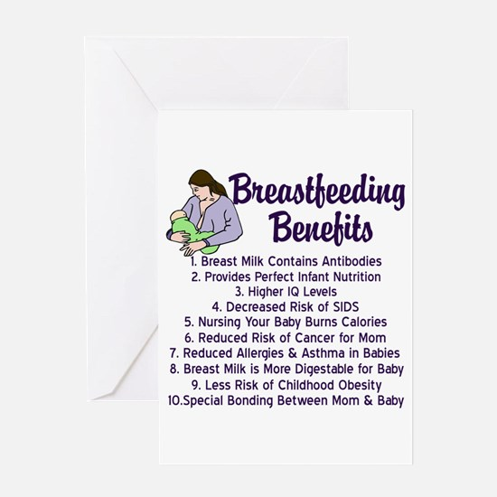 Breastfeeding Benefits Greeting Card