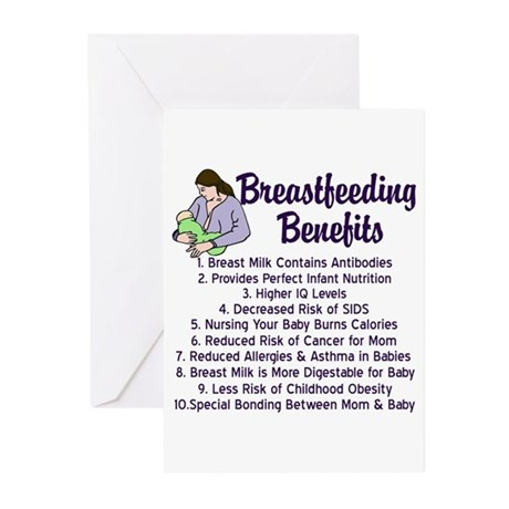 Breastfeeding Benefits Greeting Cards (Pk of 10)