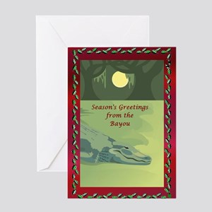 Cajun christmas greeting cards cafepress bayou gator greeting card m4hsunfo